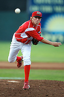Batavia Muckdogs pitcher Corey Baker #8 during a game against the Connecticut Tigers at Dwyer Stadium on July 6, 2012 in Batavia, New York.  Batavia defeated Connecticut 3-2.  (Mike Janes/Four Seam Images)