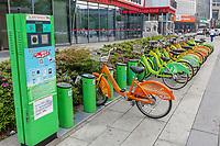 Suzhou, Jiangsu, China. Rental Bikes Ready for Customers.