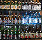 Saki Bottles, Ozumo Restaurant, San Francisco, California