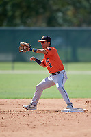 GCL Astros second baseman Alfredo Angarita (2) during a Gulf Coast League game against the GCL Marlins on August 8, 2019 at the Roger Dean Chevrolet Stadium Complex in Jupiter, Florida.  GCL Astros defeated GCL Marlins 4-2.  (Mike Janes/Four Seam Images)