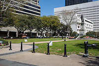 New Orleans, Louisiana.  Lafayette Square.  Statue to Henry Clay.