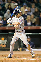 Rice Owl OF Jeremy Rathjen #3 against the Texas Tech Red Raiders on Saturday March 6th, 2100 at the Astros College Classic in Houston's Minute Maid Park.  (Photo by Andrew Woolley / Four Seam Images)
