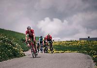 Matthias Brändle (AUT/Trek-Segafredo) descending from the Col du Pré<br /> <br /> Stage 6: Frontenex > La Rosière Espace San Bernardo (110km)<br /> 70th Critérium du Dauphiné 2018 (2.UWT)