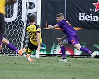 Charlotte, North Carolina - July 22, 2018: Bank of America Stadium, Liverpool vs Borussia Dortmund, International Champions Cup.  Final score Borussia Dortmund 3, Liverpool 1.