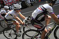 Team Jayco's Ina-Yoko Teutenberg (Germany, middle left). NZCT Women's Cycling Tour of New Zealand Stage 6 - Criterium at Lambton Quay, Wellington, New Zealand on Sunday, 27 February 2011. Photo: Dave Lintott / lintottphoto.co.nz
