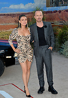 """LOS ANGELES, USA. October 08, 2019: Lauren Parsekian & Aaron Paul at the premiere of """"El Camino: A Breaking Bad Movie"""" at the Regency Village Theatre.<br /> Picture: Paul Smith/Featureflash"""