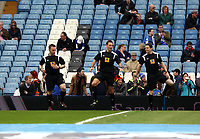 Pictured: Referee Mark Clattenburg (C) makes a return to Stamford bridge following the controvery regarding Ramirez and racist allegations.<br /> Barclays Premier League, Chelsea FC (blue) V Swansea City,<br /> 28/04/13