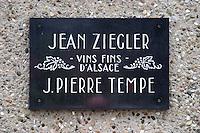 jean ziegler j pierre tempe wine producers sigolsheim alsace france