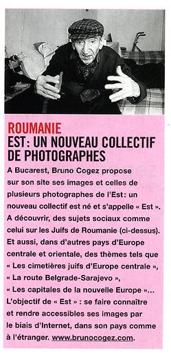 FRANCE, 2003..PPrésentation du collectif EST dans le magazine PHOTO..Presentation of the collectif of photographers EST in the French magazine PHOTO..© Bruno Cogez
