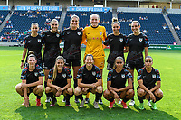 BRIDGEVIEW, IL - JULY 18: Chicago Red Stars Starting XI pose for a photo before a game between OL Reign and Chicago Red Stars at SeatGeek Stadium on July 18, 2021 in Bridgeview, Illinois.