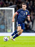 4th September 2021; Hampden Park, Glasgow, Scotland: FIFA World Cup 2022 qualification football, Scotland versus Moldova: John McGinn of Scotland plays the ball wide