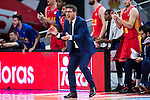 UCAM Murcia's coach Fotios Katsikaris during the third match of the Liga Endesa Playoff at Barclaycard Center in Madrid. May 31. 2016. (ALTERPHOTOS/Borja B.Hojas)