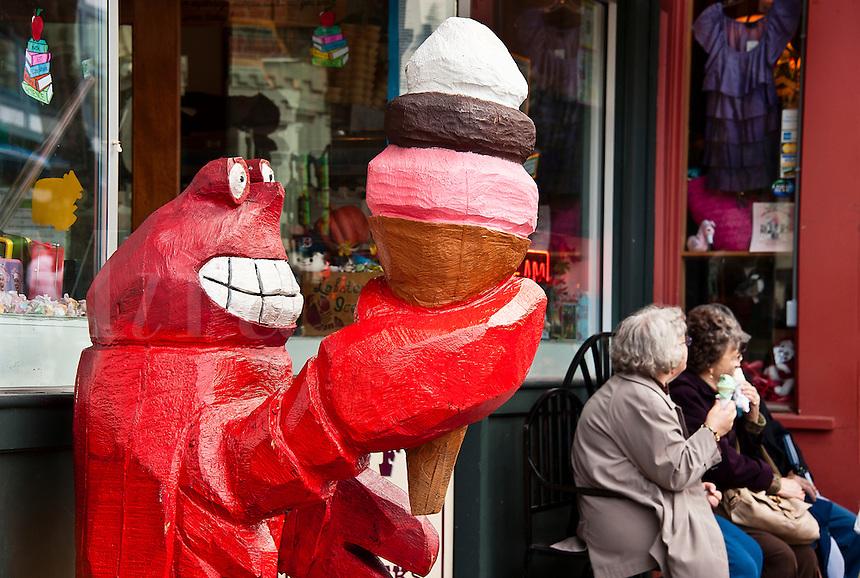 Ice Cream shop, Bar Harbor, Maine, ME, USA