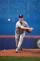 Brevard County Manatees relief pitcher Kaleb Earls (32) delivers a pitch during a game against the St. Lucie Mets on April 17, 2016 at Tradition Field in Port St. Lucie, Florida.  Brevard County defeated St. Lucie 13-0.  (Mike Janes/Four Seam Images)