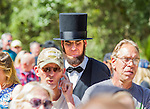 ST. AUGUSTINE, FL - OCTOBER 24:   An Abraham Lincoln look-a-like, James Mitchell from Hope, Kansas attends a rally for Republican presidential nominee Donald Trump rally at the St. Augustine Amphitheater on October 24, 2016 in St. Augustine, Florida.  (Photo by Mark Wallheiser/Getty Images)