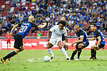 Chelsea Midfielder Willian da Silva (C) fights for the ball with FC Internazionale Defender Joao Miranda (R) during the International Champions Cup 2017 match between FC Internazionale and Chelsea FC on July 29, 2017 in Singapore. Photo by Marcio Rodrigo Machado / Power Sport Images
