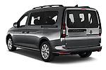 Car pictures of rear three quarter view of 2021 Volkswagen Caddy Maxi-Life 5 Door Mini Mpv Angular Rear