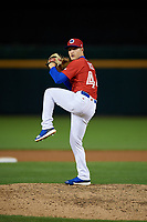 Buffalo Bisons pitcher Ty Tice (44) during an International League game against the Norfolk Tides on June 21, 2019 at Sahlen Field in Buffalo, New York.  Buffalo defeated Norfolk 1-0, the second game of a doubleheader.  (Mike Janes/Four Seam Images)