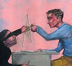 Illustration of online bribing