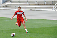 Robbie Rogers during the U. S. men's national team practice at Princeton University in Princeton, NJ, on May 22, 2010.