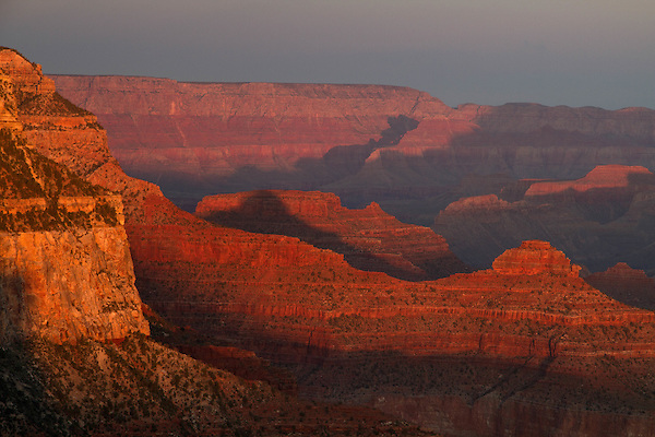 View from Powell Point on the South Rim, Grand Canyon National PArk, Arizona. .  John offers private photo tours in Grand Canyon National Park and throughout Arizona, Utah and Colorado. Year-round.