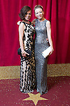 © Licensed to London News Pictures . 16/05/2015 .  The Palace Hotel , Manchester , UK . Alicia Eyo and Kelli Hollis . The red carpet at the 2015 British Soap Awards , The Palace Hotel , Oxford Road , Manchester . Photo credit : Joel Goodman/LNP