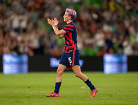 AUSTIN, TX - JUNE 16: Megan Rapinoe #15 of the USWNT salutes the crowd during a game between Nigeria and USWNT at Q2 Stadium on June 16, 2021 in Austin, Texas.
