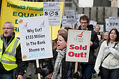 March against proposed cuts in spending by Greenwich Council, Woolwich, London.