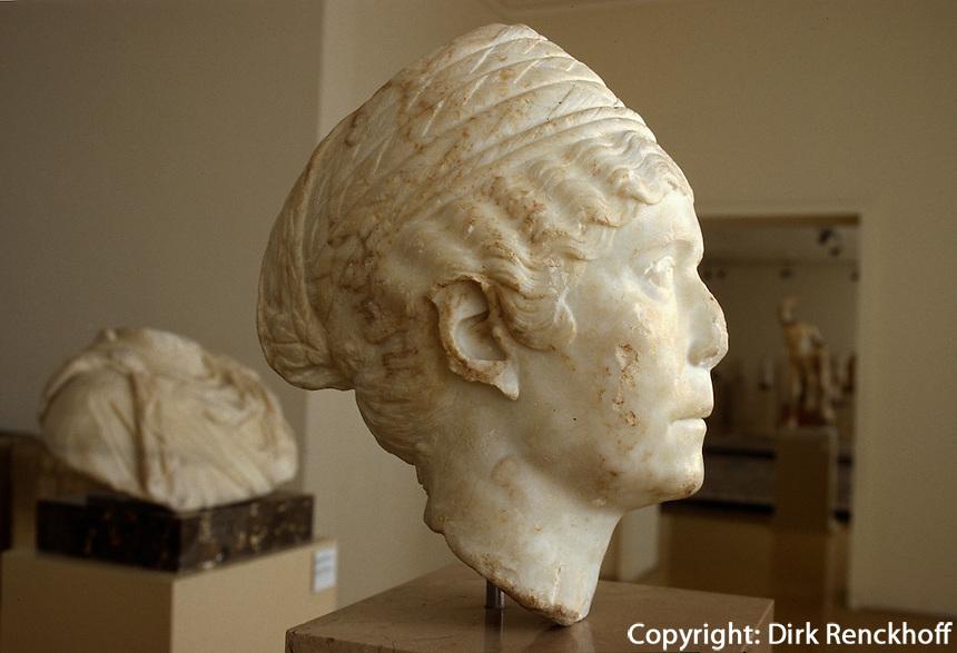 Spanien, Katalonien, Museum der Stadtgeschichte in  in Tarragona, römische Büste