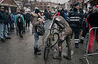 Gianni Vermeersch (BEL/Steylaerts-Verona) race finished<br /> <br /> Elite Men's Race<br /> CX Vlaamse Druivencross Overijse 2017