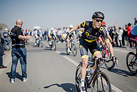 Niki Terpstra (NED/Direct Energie) catching the bidon<br /> <br /> 110th Milano-Sanremo 2019 (ITA)<br /> One day race from Milano to Sanremo (291km)<br /> <br /> ©kramon