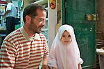 Young Girl & Father, Arab Quarter, Old Ciy, Jerusalem