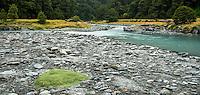 Matukituki River at Pearl Flat, Mt. Aspiring National Park, Central Otago, UNESCO World Heritage Area, South Island, New Zealand, NZ