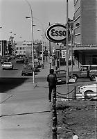 Station d'essence, 8 Mars 1973<br /> PHOTO :   Agence Quebec Presse - Alain Renaud