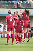 STANFORD, CA - September 3, 2017: Jordan DiBiasi,Tierna Davidson,Jaye Boissiere,Carly Malatskey at Cagan Stadium. Stanford defeated Navy 7-0.