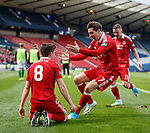 Ryan Christie celebrates his free-kick goal for Aberdeen with Kenny McLean