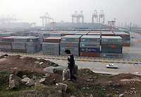 A view of the Yangshan Deepwater Container Port in Shanghai, China..
