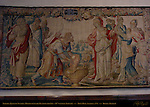 Tamyris Queen of Scythia Mourns over the Death of her Son, 16th c. Tapestry, Town Hall Stadhuis, Burg Square, Bruges, Brugge, Belgium