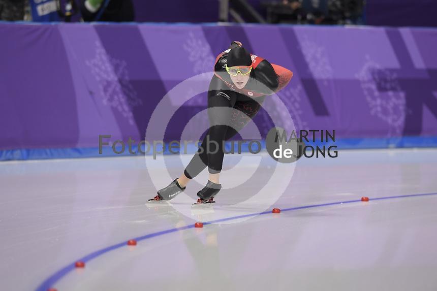 OLYMPIC GAMES: PYEONGCHANG: 16-02-2018, Gangneung Oval, Long Track, 5.000m Ladies, Ivanie Blondin (CAN), ©photo Martin de Jong