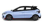 Car Driver side profile view of a 2021 Hyundai i20 N-Performance 5 Door Hatchback Side View