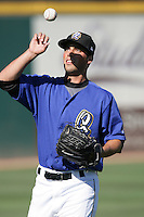 Nick Pugliese of the Rancho Cucamonga Quakes during game against the Stockton Ports at The Epicenter in Rancho Cucamonga,California on August 15, 2010. Photo by Larry Goren/Four Seam Images