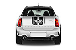 Straight rear view of 2016 MINI Countryman Cooper-S 5 Door Hatchback Rear View  stock images