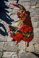 Demon dancer at the Prakhar Lhakhang festival, Bumthang, Bhutan