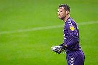 3rd October 2020; Riverside Stadium, Middlesbrough, Cleveland, England; English Football League Championship Football, Middlesbrough versus Barnsley; Marcus Bettinelli of Middlesbrough FC watching the action in front of him