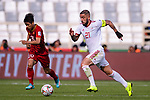 Seyed Ashkan Dejagah of Iran (R) competes for the ball with Phan Van Duc of Vietnam (L) during the AFC Asian Cup UAE 2019 Group D match between Vietnam (VIE) and I.R. Iran (IRN) at Al Nahyan Stadium on 12 January 2019 in Abu Dhabi, United Arab Emirates. Photo by Marcio Rodrigo Machado / Power Sport Images