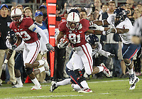 STANFORD, CA - November 6, 2010: Chris Owusu on a 21 yard kickoff return during a 42-17 Stanford win over the University of Arizona, in Stanford, California.