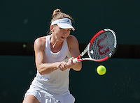 England, London, 28.06.2014. Tennis, Wimbledon, AELTC, Semifinal match between Eugenie Bouchard and Simone Halep, Pictured: Simone Halep (ROU)<br /> Photo: Tennisimages/Henk Koster