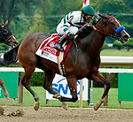 August 28, 2021: Gamine #1, ridden by jockey John Velazquez wins the Grade 1 Ballerina Handicap at Saratoga Race Course in Saratoga Springs, N.Y. on August 28th, 2021. Dan Heary/Eclipse Sportswire/CSM