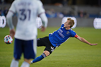 SAN JOSE, CA - MAY 1: Jackson Yueill #14 of the San Jose Earthquakes during a game between D.C. United and San Jose Earthquakes at PayPal Park on May 1, 2021 in San Jose, California.