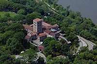 aerial photograph The Cloisers, Fort Tyron Park, Washington Heights, Manhattan, New York City